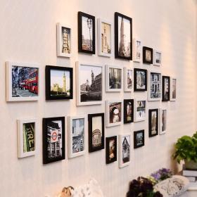 现代时尚雅致照片墙赏析