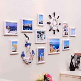 地中海风格清新照片墙装潢设计