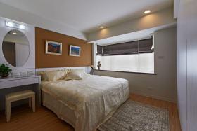 橙色简约风格卧室装修效果图