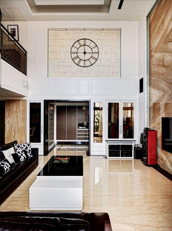 2016素雅时尚现代风格客厅装潢设计图