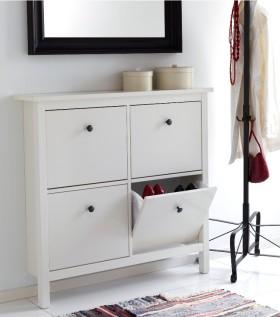 白色简约风格鞋柜装修案例