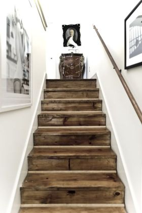 简欧风格时尚白色楼梯图片
