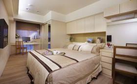 现代风格大气米色卧室设计装潢