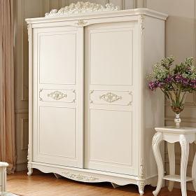 浪漫白色欧式风格衣柜装潢案例