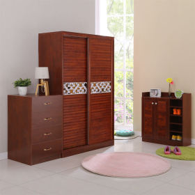 简约风格实木衣柜装修案例
