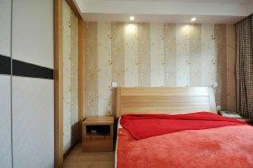 橙色新中式风格卧室设计图
