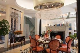 2016精致米色新古典风格餐厅装修布置