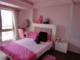 粉色现代风格卧室装修图