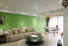 绿色雅致时尚现代风格客厅图片欣赏