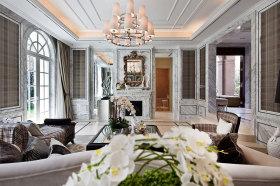 灰色高贵新古典客厅装修效果图