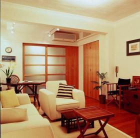 红色新中式风格客厅装修设计图片