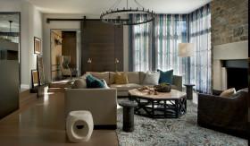 混搭风格客厅窗帘美图