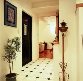 米色东南亚风格过道装修设计