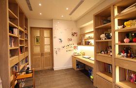混搭风格橙色书房装修设计图