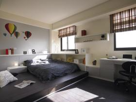 灰色休闲宜家风格卧室图片