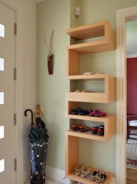现代混搭风格鞋柜效果图欣赏