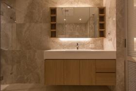 极致简约风格米色浴室柜装修布置