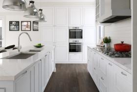 2016白色现代风格厨房橱柜效果图欣赏