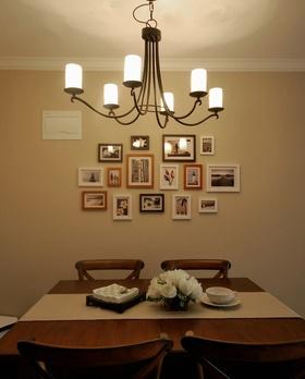 典雅美式风格照片墙装修布置