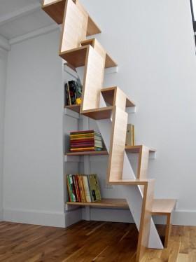 创意时尚简约风格楼梯装饰图