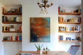 混搭风格书房书柜装饰设计图片