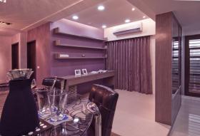 紫色现代风格雅致餐厅设计赏析
