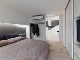 白色宜家风格卧室装修案例欣赏