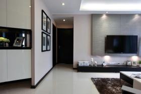 混搭客厅背景墙装潢案例