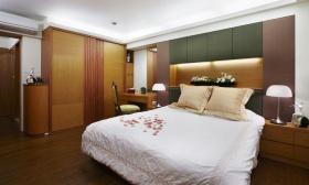 黄色新中式风格卧室衣柜设计