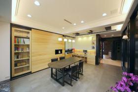 黄色大气现代风格书房设计欣赏