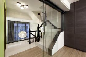 2016时尚黑色现代风格楼梯装潢设计图