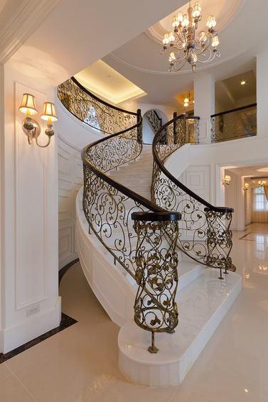 精致时尚欧式风格白色楼梯装修