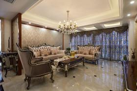 华丽典雅新古典风格客厅装潢装修布置