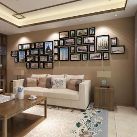 时尚米色现代风格照片墙装修图片
