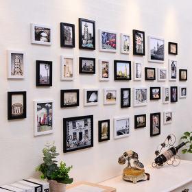 白色宜家风格照片墙装饰效果图设计