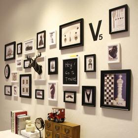 欧式创意时尚照片墙装饰案例