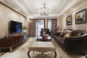 新古典米色奢华客厅背景墙设计欣赏