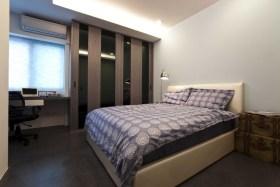 现代风格时尚米色卧室装潢设计