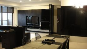 黑色现代客厅效果图欣赏