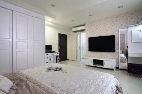 白色简约风格卧室衣柜装饰案例