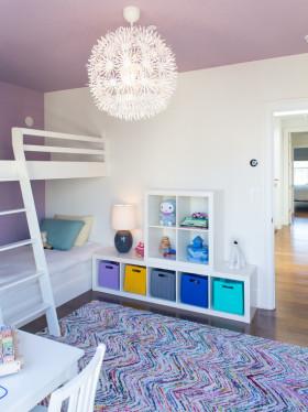 紫色创意时尚混搭风格儿童房图片欣赏