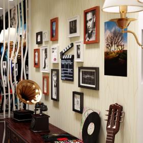 摩登时尚现代风格照片墙装潢设计