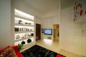 现代简约白色背景墙设计赏析