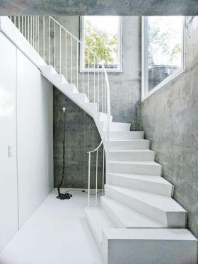 白色极简现代风格楼梯赏析