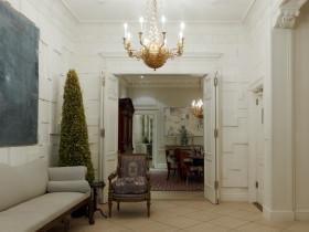 白色美式风格玄关装饰设计图片