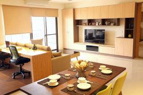 橙色宜家风格客厅装修赏析