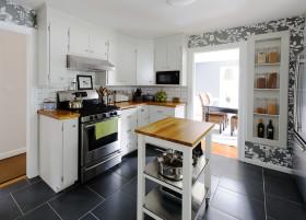 现代风格时尚白色厨房装饰设计图片