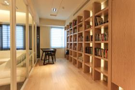 自然大气简约风格书柜隔断设计图片赏析