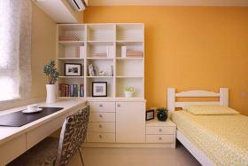 2016大气清爽橙色现代风格卧室装饰图