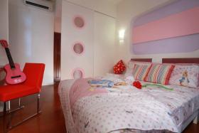 粉色可爱风现代风格卧室欣赏